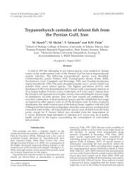 Trypanorhynch cestodes of teleost fish from the Persian Gulf, Iran