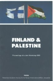 FINLAND & PALESTINE Proceedings of a Joint Workshop