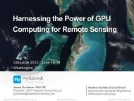 Harnessing the Power of GPU Computing for Remote ... - Exelis VIS