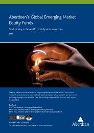 Aberdeen's Global Emerging Market Equity Funds - Aberdeen Asset ...