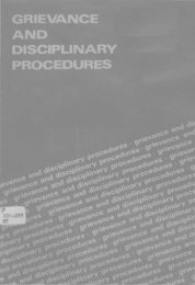 grievance and disciplinary procedures - HKU Libraries