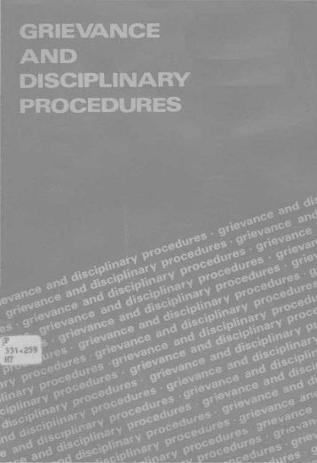 disciplinary and grievance procedures Follow the acas code of practice on disciplinary and grievance procedures this code provides helpful guidance for handling grievances failure to comply with the acas code will not automatically result in an employee being successful in an employment tribunal claim.
