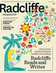 magazine - Radcliffe Institute for Advanced Study - Harvard University