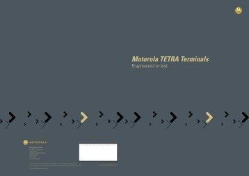 TETRA Terminals Brochure - Sigma Wireless