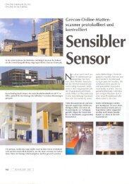scanner protokolliert und kontrolliert Sensibler Sensor - GreCon