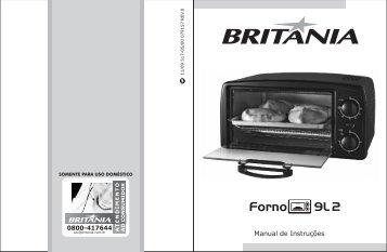 517 05 00 Rev0 Folheto de Instruções Forno Elétrico 9L2