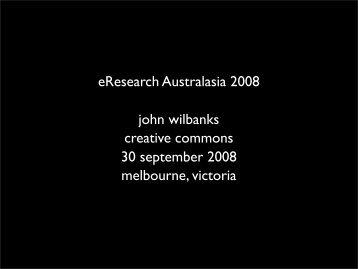 View the presentation slides - eResearch Australasia