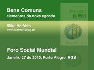 Bens Comuns Foro Social Mundial - CommonsBlog