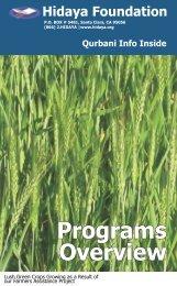 Programs Overview / Qurbani 2008 - Hidaya