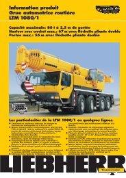 Information produit Grue automotrice routière LTM 1080/1