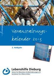 Veranstaltungskalender 2/2013 - Lebenshilfe Dieburg eV