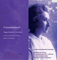 Der Flyer zum Frauenschwoof in Dortmund