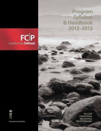 Program Syllabus & Handbook 2012 - Insurance Institute of Canada