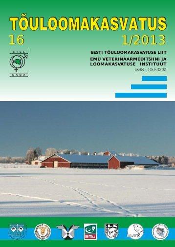 eesti tõuloomakasvatuse liit emü veterinaarmeditsiini ja ...