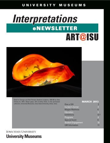 March 2013 - University Museums - Iowa State University
