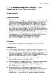 Bedingungen - Hypo Landesbank Vorarlberg
