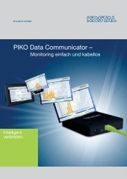 PIKO Data Communicator – - energy-team.at - Solarzelle Waldviertel