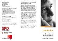 Symposium - Hermann-Scheer-Stiftung