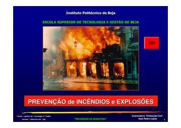 Prevenção de Incêndios e Explosões - Instituto Politécnico de Beja