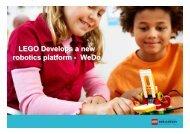 WeDo LEGO Develops a new robotics platform - WeDo