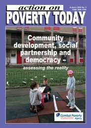 Action on Poverty Today (Autumn 2004) - Combat Poverty Agency
