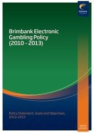 Electronic Gambling Policy - Brimbank City Council