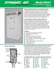 Modu-Kleen Bin Vent Filter/Dust Collector Series ... - Dynamic Air Inc.