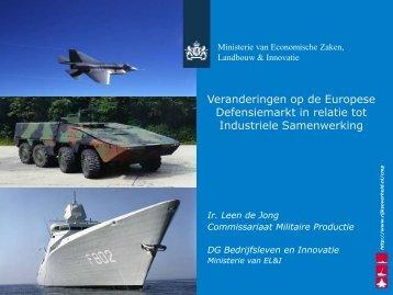 Ministerie EL&I, L. de Jong