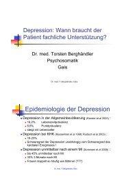 Epidemiologie der Depression