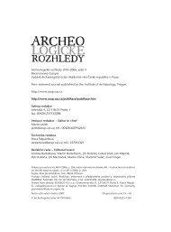 Archeologické rozhledy 2006 - Archeologický ústav AV ČR