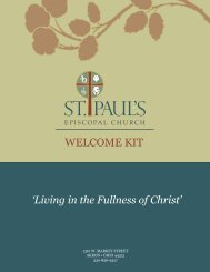 Welcome Kit - St. Paul's Episcopal Church