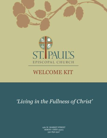 Welcome Kit - St. Paul's Episcopal Church