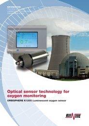 Optical sensor technology for oxygen monitoring - Oleinitec AB