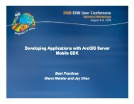 Developing Applications with ArcGIS Server Mobile SDK
