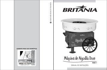 496 05 00 Rev0 Folheto de Instruções Maquina de Algodão doce ...