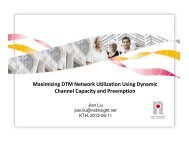 Maximizing DTM Network Utilization Using Dynamic Channel ...