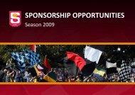 SPONSORSHIP OPPORTUNITIES - sanfl
