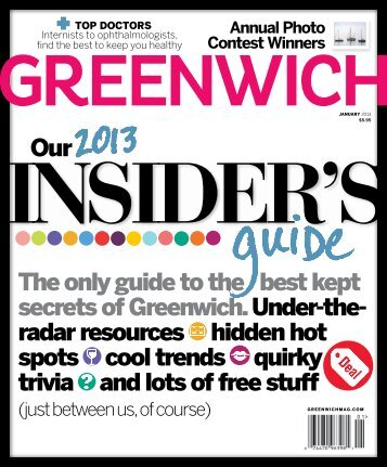 The only guide to the best kept secrets of Greenwich ... - Riann Smith