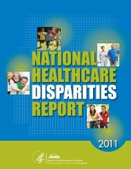 National Healthcare Disparities Report - LDI Health Economist