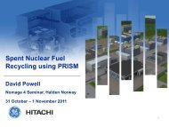 Spent Nuclear Fuel Recycling using PRISM - Nordic Gen 4
