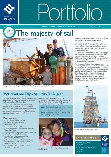 Portfolio August 2013 - Fremantle Ports