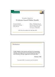 Overview of EBPH issues (Hajo Zeeb for Ansgar Gerhardus ...
