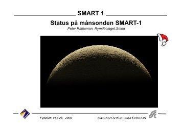 SMART 1 Status på månsonden SMART-1 - uppsagd