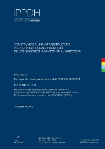 Untitled - IPPDH - Mercosur