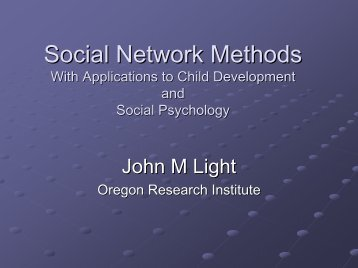Social Network Analysis - the Center on Early Adolescence