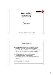 Werkstoffe I Einführung - IfB - ETH Zürich