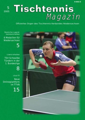 6 Medaillen für Niedersachsen TSV Schwalbe Tündern in ... - TTVN
