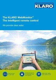 The KLARO WebMonitor® The intelligent remote ... - KLARO GmbH