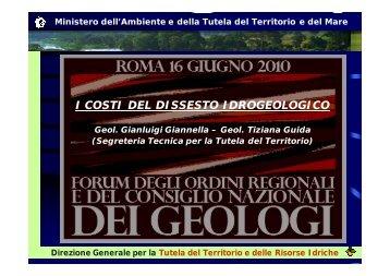 i costi del dissesto idrogeologico - Ordine dei Geologi del Lazio