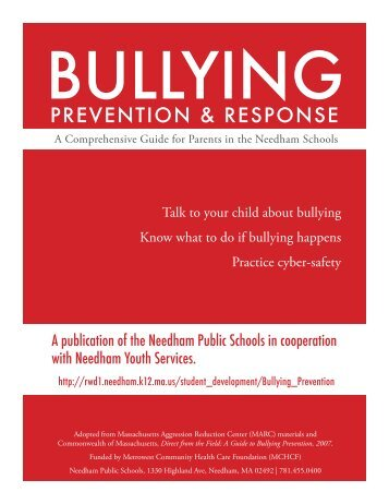 Bullying Prevention and Response - Needham Public Schools
